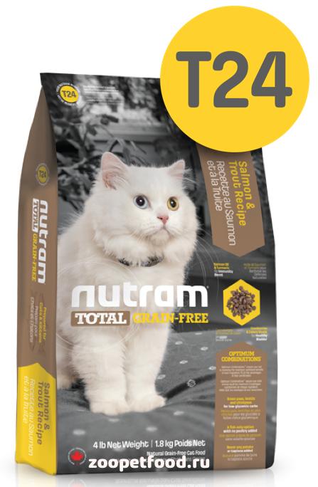 NUTRAM Total Cat Grain Free Salmon/Trout сухой беззерновой для взрослых кошек ЛОСОСЬ / ФОРЕЛЬ