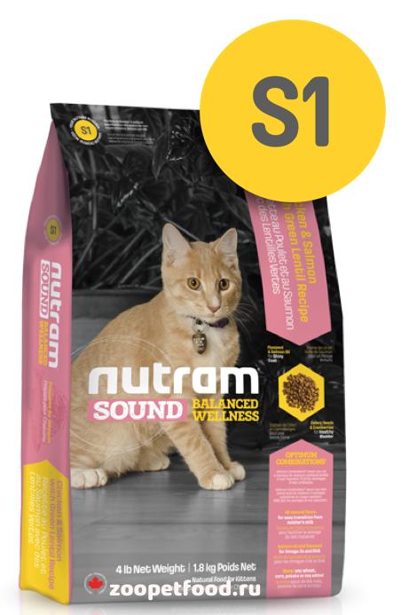 NUTRAM Sound Kitten сухой для Котят, беременных и кормящих кошек