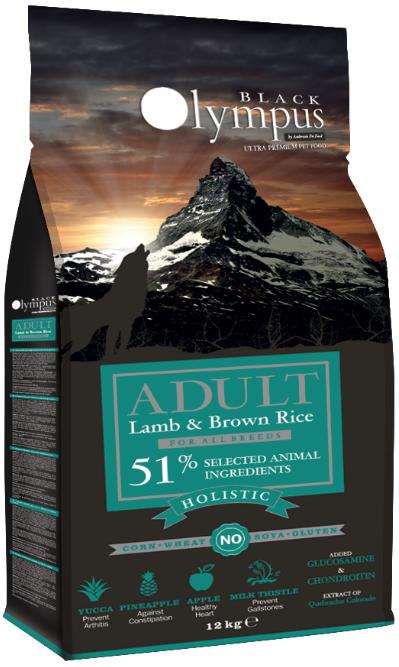 BLACK OLYMPUS Holistic Adult Dog All Breeds Lamb / Brown Rice сухой низкозерновой для взрослых собак Всех пород ЯГНЕНОК / КОРИЧНЕВЫЙ РИС