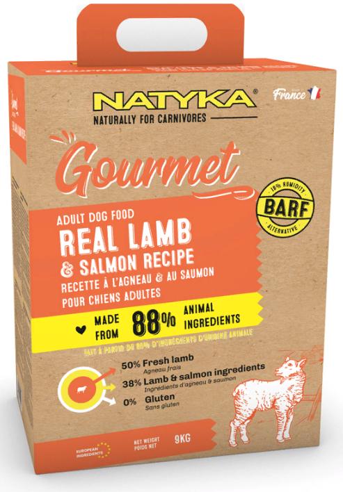 NATYKA Gourmet Adult Dog Real Lamb / Salmon сухой для взрослых собак всех пород ЯГНЕНОК / ЛОСОСЬ